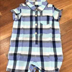 Gap Blue romper 12-18m